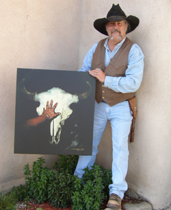 Tony Whitecrow with Touching the Past taos, Tony Whitecrow, deerskin, leather, bedding, clothing, jackets, western, custom